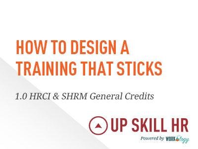 Designing a Training that Sticks