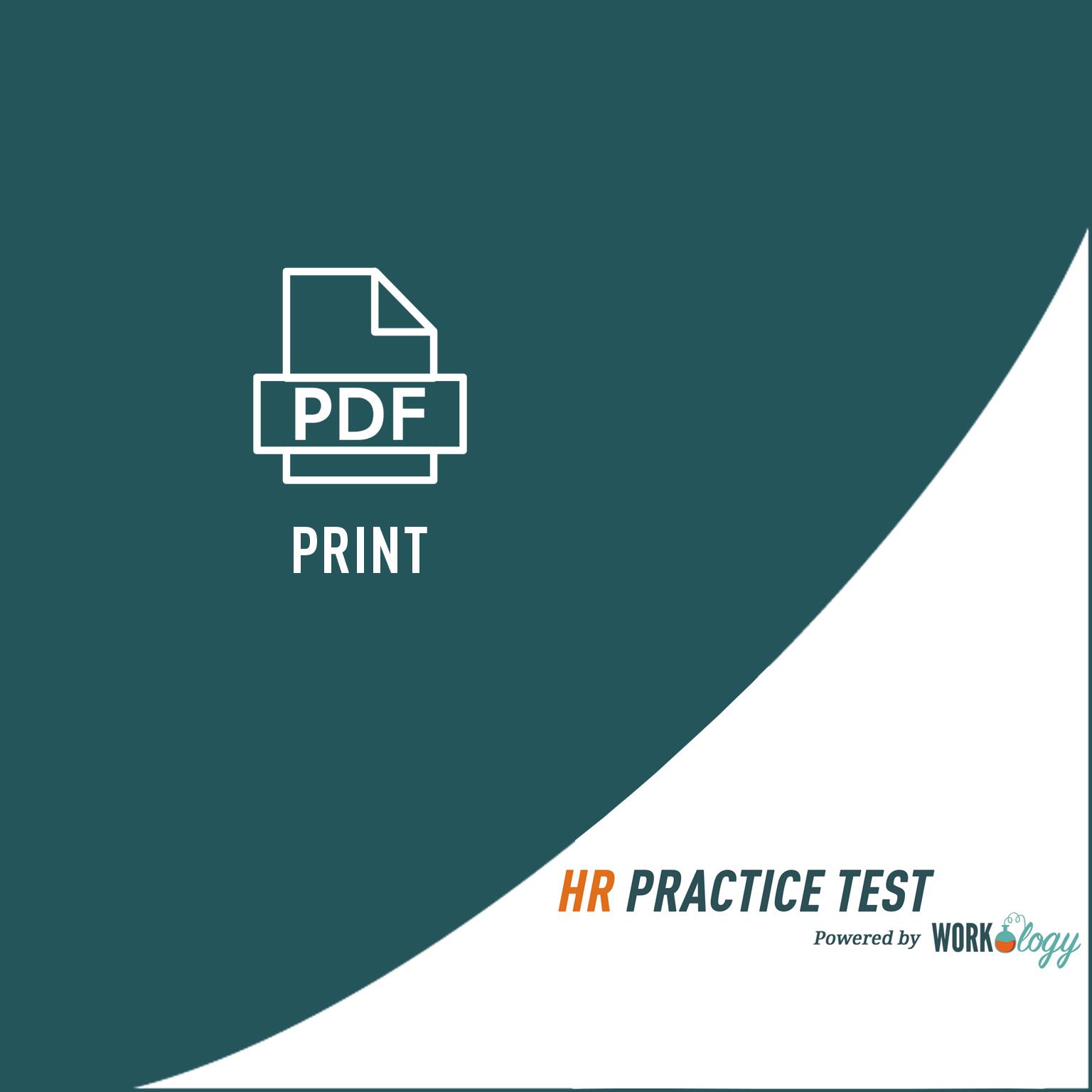 HR Practice test (print)