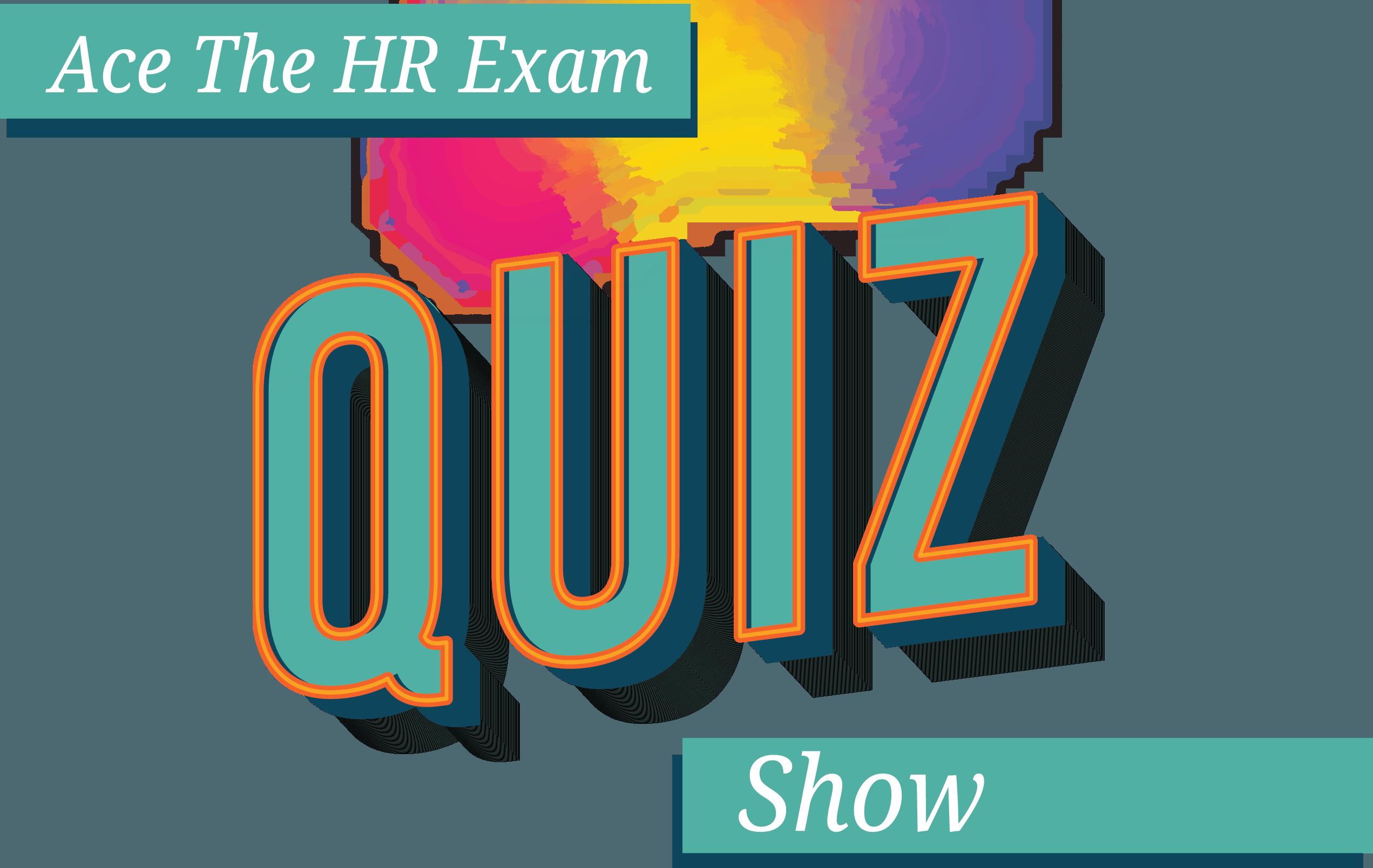Ace the HR Exam Quiz Showw Logo