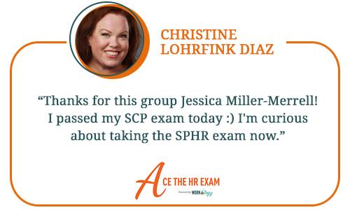 Ace The HR Exam Testimonials - Christine Lohrfink Diaz Website