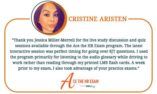 Ace The HR Exam Testimonials - Cristine Aristen Website